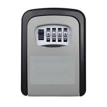 Новый ключ замок коробка стены крепится алюминиевый сплав ключ сейф всепогодный 4-х значный кодовый ключ ящик для хранения с замком крытый