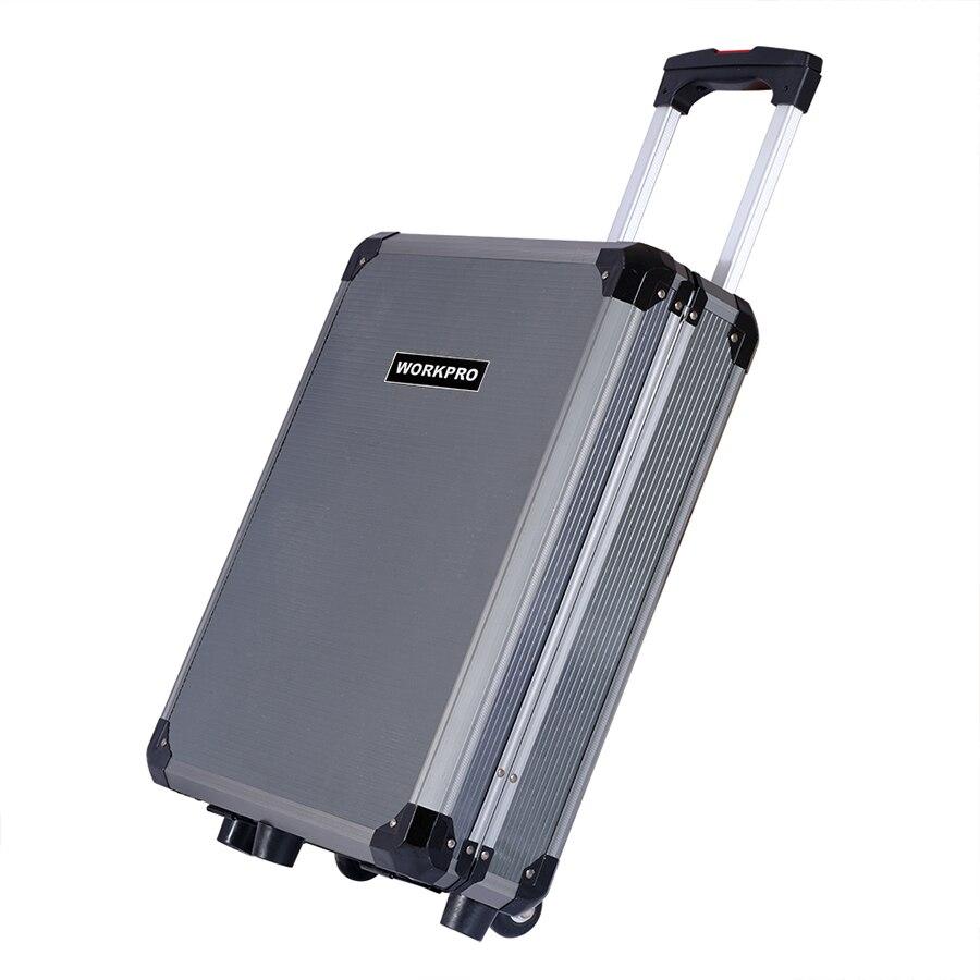 WORKPRO 111 шт. набор инструментов, набор ручных инструментов, алюминиевый ящик для тележки, набор инструментов, ремонтный набор, набор инструмен... - 5