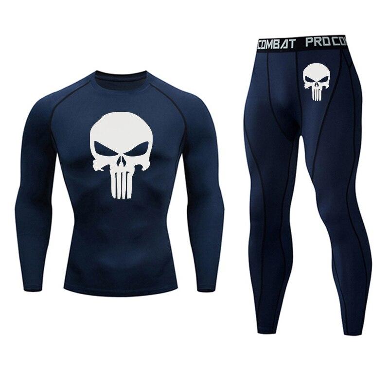 New Jogging Thermal Underwear Set Quick-drying Training T-shirt Leggings tracksu