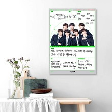 Canvas Painting Living-Room-Decoration Wall-Art Poster Bts Bedroom Bangtan Boys Korean-Pop
