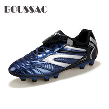 BOUSSAC Soccer Boots Athletic Shoes 2018 New Leather Big Size High Top Cleats Training Football Sneaker