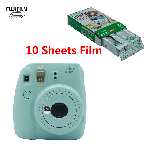 Fujifilm INSTAX Mini 9 Instant Camera Film Gift Bundle mini9 Birthday Christmas New Year Gift Fashion Updated Version + 10 Sheet
