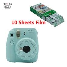 كاميرا Fujifilm INSTAX Mini 9 فورية فيلم هدية حزمة mini9 عيد ميلاد عيد الميلاد السنة الجديدة هدية موضة نسخة محدثة + 10 ورقة