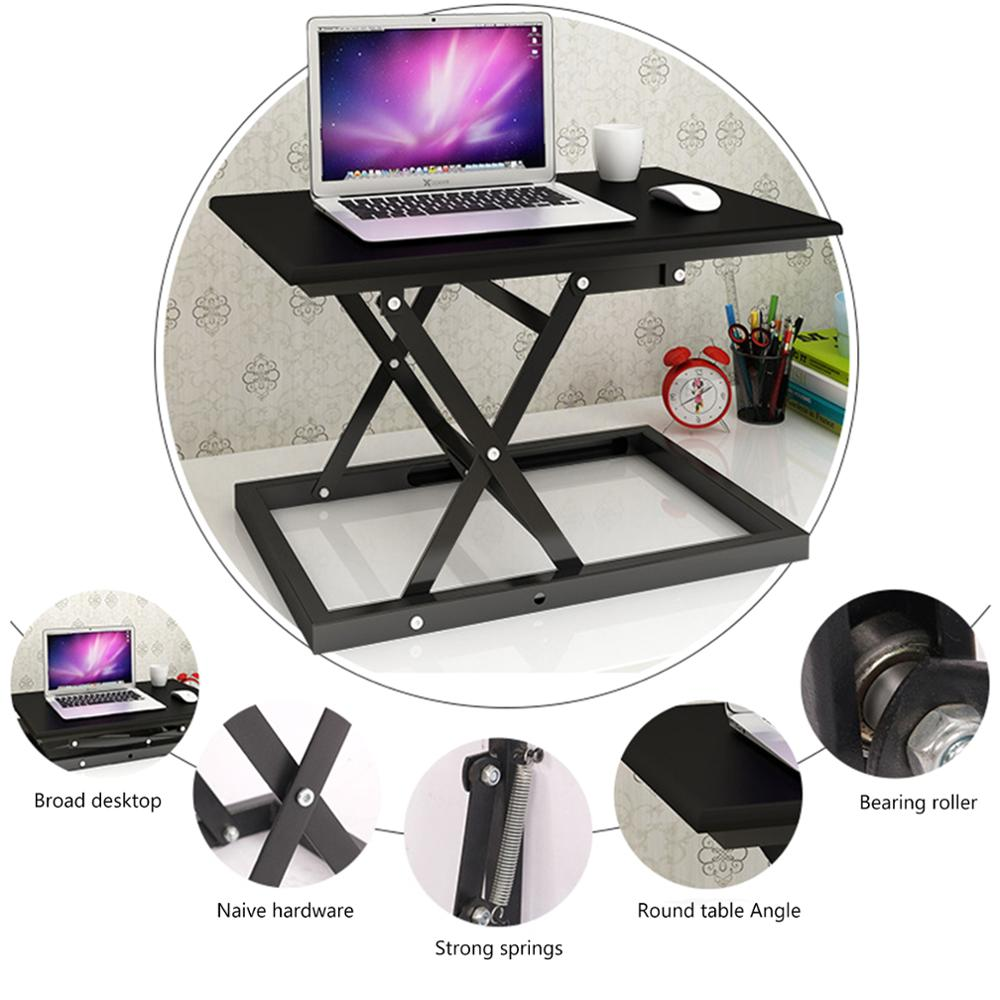 Black  Sit-Stand Height Adjustable Standing Desk Riser Sit Stand Up Computer Office Desktop