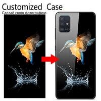 Personifizierte Glas Fall Für Samsung Galaxy A21S A41 M01 A71 A51 S20 Ultra Plus Hinweis 10 S10 Lite M31 a01 Abdeckung Angepasst