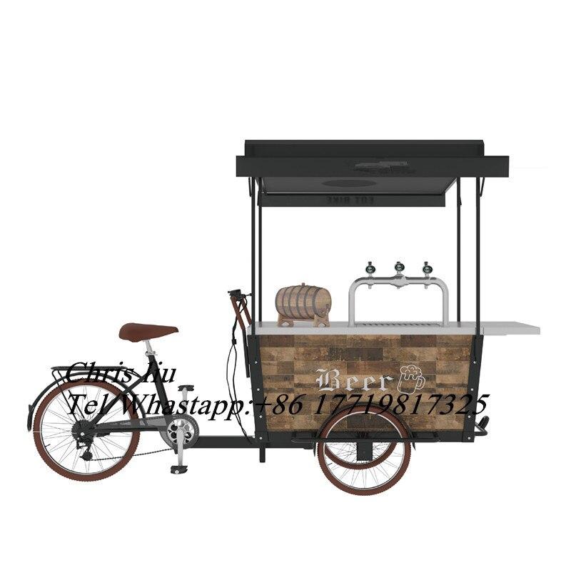 Steel-coffee-bike-electric-tricycle-beer-bar (1)