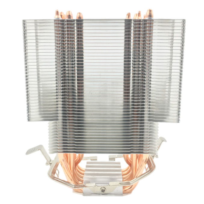 Fanless CPU <font><b>Cooler</b></font> 12Cm Fan 6 Copper Heatpipes Fanless Cooling Radiator for LGA 1150/1151/1155/<font><b>1156</b></font>/1366/775/2011 AMD image