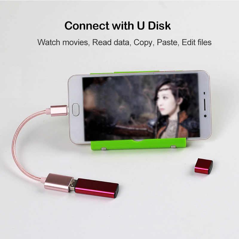 Slate Grey USB Type-C PortChanger BoxWave 2-Pack Realme Q2i Cable USB Type-C OTG USB Portable Keychain for Realme Q2i