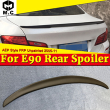 For BMW E90 FRP Unpainted Trunk Spoiler Wing P Style Add On 3 Series Sedan 323i 325i 328i 330i M Look Rear Wing Spoiler 2005-11 стоимость
