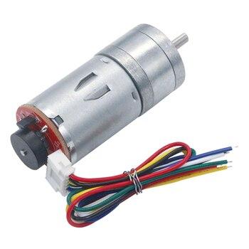 цена на Geared-Motor 6v 210rpm Encoder Motor Gm25-370 Dc Gear Motor 1:34 12*d4*8 Power Tool Accessories For Motor Equipment Decelerating