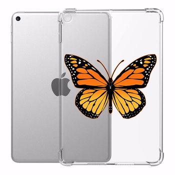 Case for iPad 10.2 10.5 in iPad Air 3 Butterfly Cases Transparent Silicone Reinforced Corners Soft Cover for iPad Mini 1 2 3 4 5 case for apple ipad 2018 2017 9 7 cover for ipad mini 1 2 3 4 air 2 clear transparent cases for ipad pro 10 5 soft tpu cover
