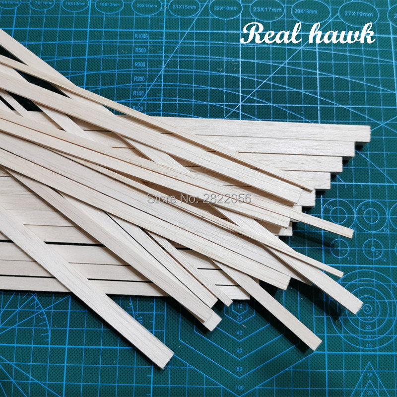 250 Mm Length 2 Mm Thickness Width 3/4/5/6/7/8/9/10 Mm Wood Strip AAA+ Balsa Wood Sticks Strips For Airplane/boat Model DIY