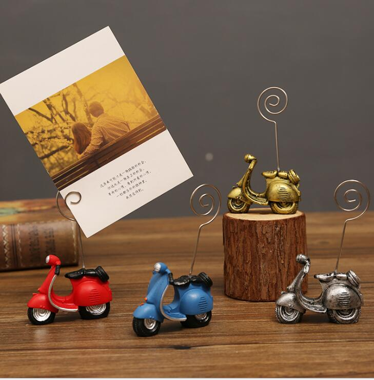1PC Vintage England Mailbox Photo Paper Clip Note Holder Desk Name Card Wedding Favors Place Card Memo Clip Home Decoration Gift