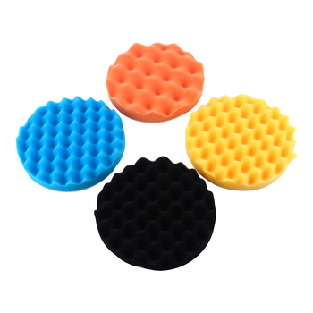 New 4Pcs Sponge Pad 7/6/5/4/3 Inch Car Polishing Sponge Foam Pad Buffing Wax Polisher Set Sponge Pads Dropshipping 5pcs polished sponge disc 3 4 5 6 7 inch buffing sponge polishing pad hand tool kit for car polisher wax free shipping