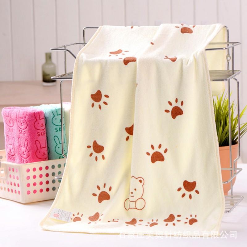 Baby Kids Cotton Towels Baby Bath Towel Baby Cartoon Animal Heart Print Bath Towel Absorbent Drying Swimwear Drop