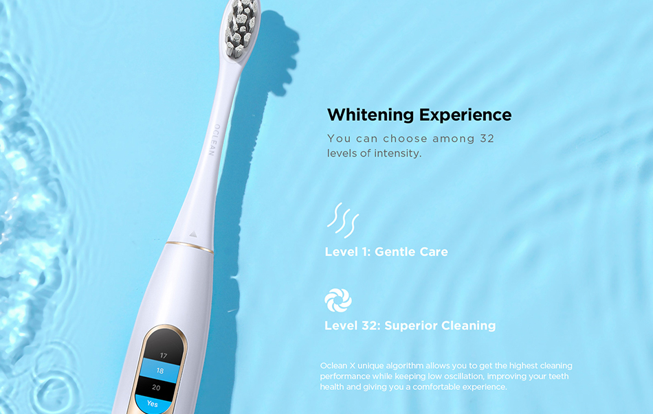H3c1230c0d38c45bfa6594873fc7c1ce04 - Global Version Oclean X Sonic Electric Toothbrush Color LCD Touch Screen IPX7 4 Brush Modes Fast Charge 30 days Tooth Brush