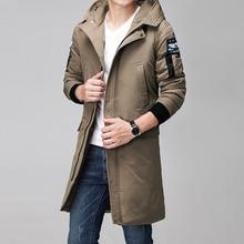 Winter new Mens Down Jacket White Duck Jackets Casual mens Medium-Long Coats casaco masculino inverno