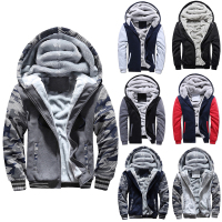 Outdoor Men Military Tactical Hunting Jacket Fleece Hunting Clothes Fishing Hiking Warm Jacket Hoodies Winter Coat with Hood