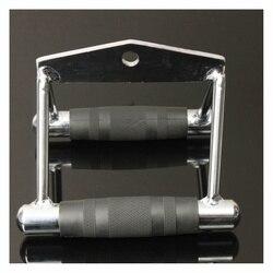 2 Bar GYM Workout Handle Attachment Stirrup switted Row drawing Fitness W/Pad w Ściskacze do dłoni od Sport i rozrywka na