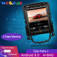 """Wekeao Vertical Screen Tesla Style 10.4"""" Android 10.0 Car Radio Auto GPS Navigation For Opel Astra J Car DVD Player 4G 2009 2015"""