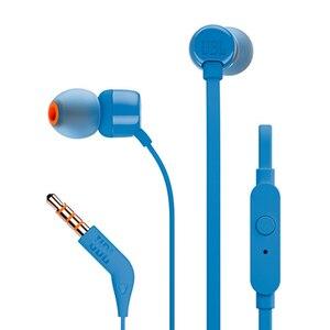 Image 2 - سماعات أذن JBL T110 داخلية أصلية سلكية سماعات أذن ستيريو بجهير عميق سماعات أذن رياضية مع ميكروفون يدعم شاومي وهواوي