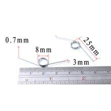Ressort de Torsion à 0.7 degrés, zingué, 5 pièces/lot, poubelle réglable 135mm