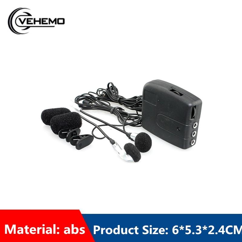 VEHEMO 2Riders Front Rear Helmet Walkie Talkie Motorcycle Communication Black With Headset 150mw Walkietalkie Outdoor Sports