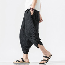 Harem Pants Trousers Clothing Linen Fitness Summer Men Casual Loose Slim Hot-Selling