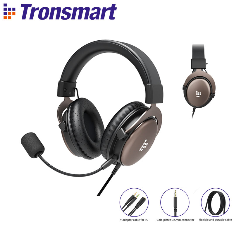 Original Tronsmart Sono Gaming Headset with 50 mm Driver and Adjustable Headband for PC,PS4,Xbox One and mobile devices image