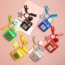 Cute Cartoon Creative Keychain Square Anime Classic Game Machine Backpack Pendant Child Boyfriend Holiday Gift