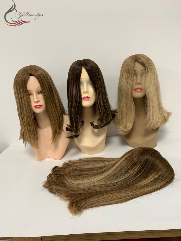 Customized Jewish Wig Kosher Wig 100% High Quality European Virgin Hair Silk Top Small Layer Wigs