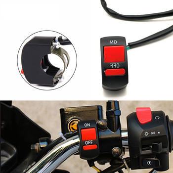 Universal Motorcycle Handlebar Flameout Switch ON OFF Button For Honda CBR 125 300 500 R F FA X 929 600 954 1000 RR 1100XX CR80R image