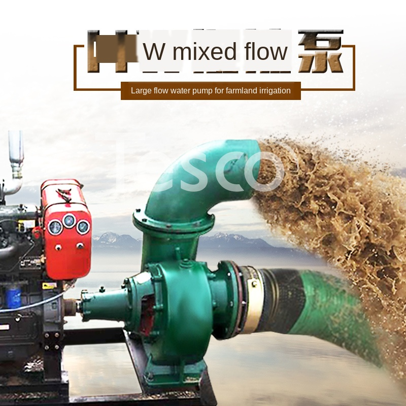 Flow Of Mixed-Flow Pump Agricultural Pumps Diesel Water Pump Large-Scale Irrigation Pump 6 Inch, 8 Inch 10 Inch 12 Inch 14
