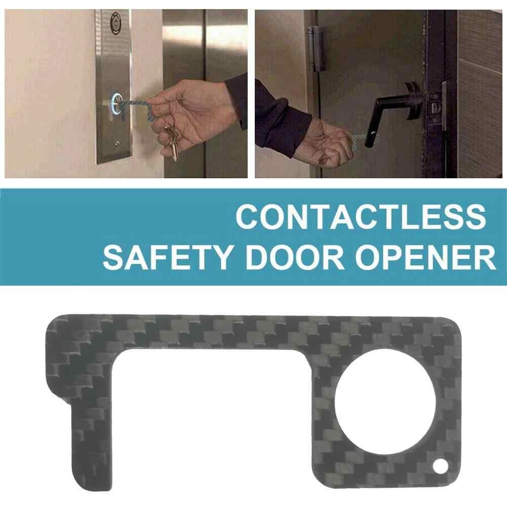 エレベーターボタン非接触ツール安全ドア開閉ツールキーホルダー保護分離真鍮キードアオープナーなしタッチツール