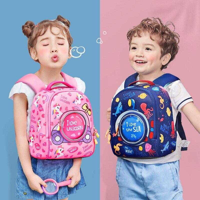 South Korea KK Tree Kindergarten School Bag Girls Men's 1-3-6 A Year Of Age Baby Cute CHILDREN'S Cartoon Fashion Version