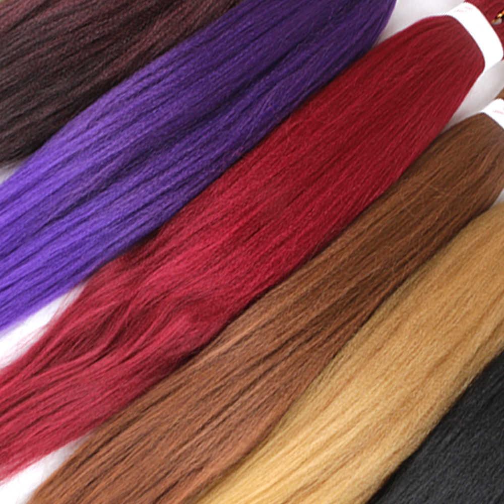 Gemakkelijk Jumbo Vlechten Haar Synthetische Gehaakte Vlecht Haarverlenging Ombre Vlechten Haar Pure Kleur Mengen Kleur Lage Temperatuur Fiber