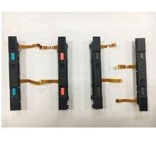 Peças de reparo originais usadas l r para ns switch joycon direita esquerda slider plástico com conjunto de trilho botão