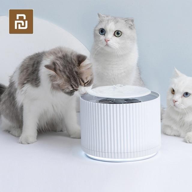 Youpin Thông Minh Mèo Thú Cưng Nước Nước 1.88L 5 Lớp Lọc 360 Độ Mở Uống Khay Động Vật Vòi Nước Uống