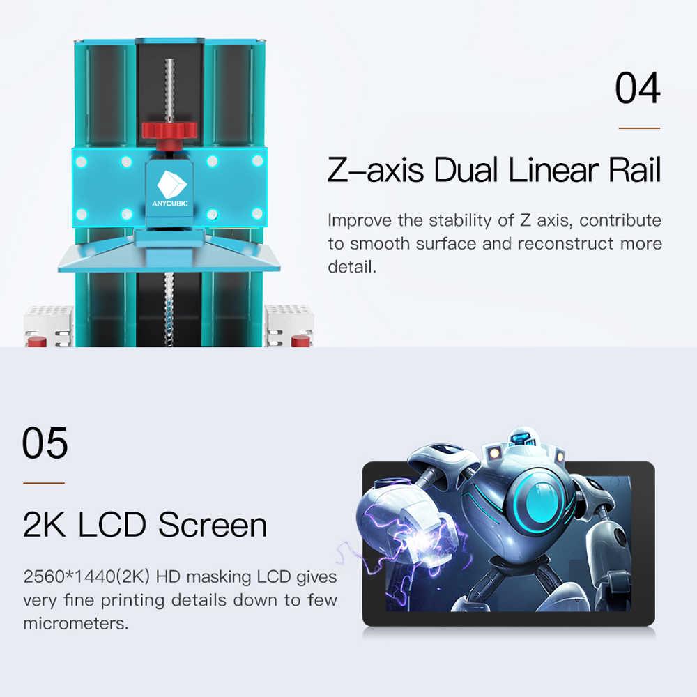 Anycubic fotón S 3D impresora Photon-S 2 impresora UV a Color del SLA/LCD de alta precisión de doble eje Z 3d drucker impresora 3d