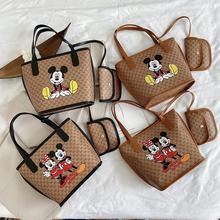 2021 Disney Mickey Mouse Mode Tendance sacs à main Femme Décontracté sac À Provisions mickey Minnie Portable Dessin Animé Sac En Cuir Synthétique Polyuréthane Dames Chaîne Sac