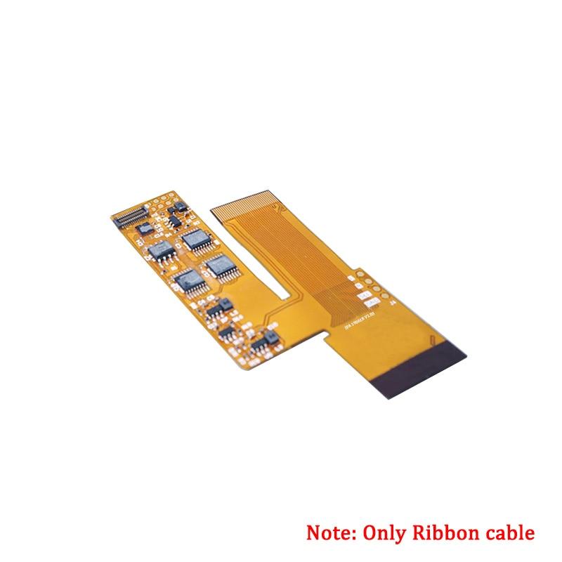 Ленточный кабель и стеклянный экран Замена объектива для GBA IPS V2 ЖК-экран наборы полный экран аксессуары для GameBoy Advance Console