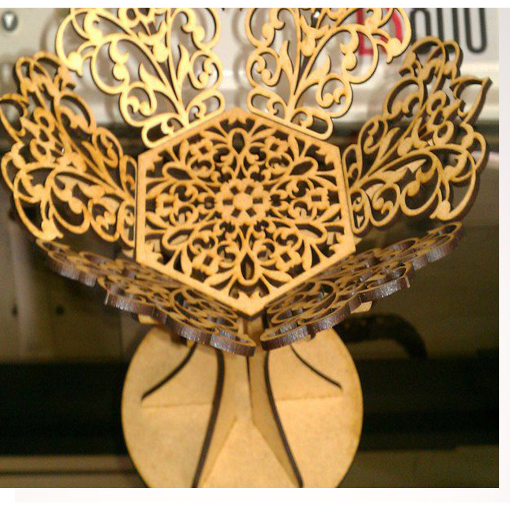 2 Files, Plant Pattern Style Vase Art 2D Vector DXF Format Design Drawing Files For CNC Laser Cutting Files
