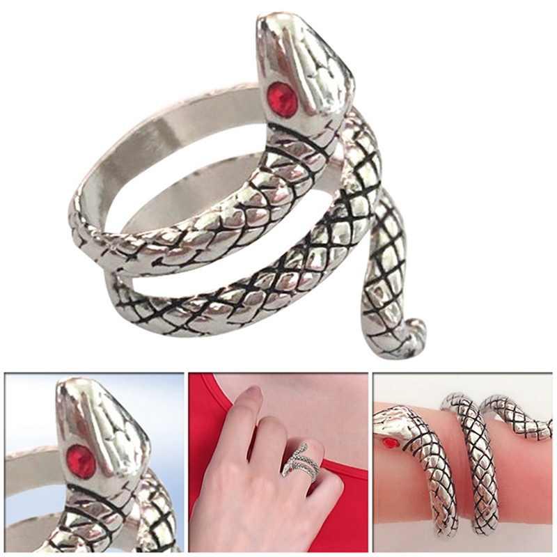 Hurtownie moda wąż pierścienie dla kobiet kolor srebrny metali ciężkich pierścień punk rock w stylu Vintage biżuteria dla zwierząt
