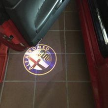 Alfa Romeo LED Car Door Logo Light Welcome Light LED Puddle Lights for Alfa Romeo 147 159 GT All Car Models