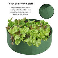 Raised Plant Bed Garden Flower Planter Elevated Vegetable Box Planting Grow Bag 50 Gallons Round Planting Pot for Plants Nursery