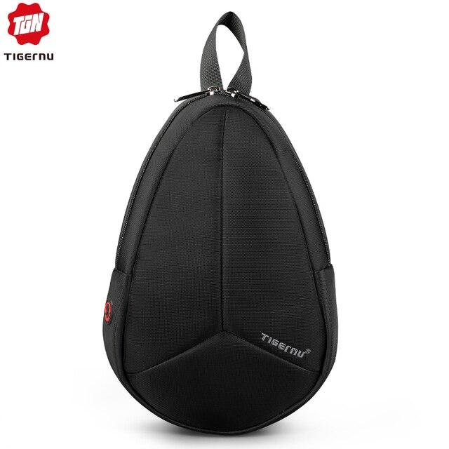 Tigernu New Arrival Men Melon Chest Bag For Male Crossbody Bag Waterproof Nylon Messenger Bag