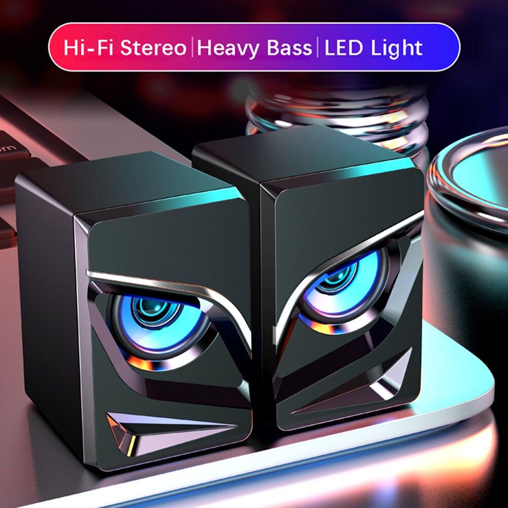 Игровая Колонка для ПК, 2,0 каналов, стерео, для настольного компьютера, звуковая панель, динамик s с компактным маневренным размером, Bluetooth-ди...