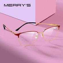 MERRYS-gafas de lectura de diseño para mujer, lentes de resina con bloqueo de luz azul, CR-39, gafas asféricas + 1,00 + 1,50 + 2,00 S2019FLH