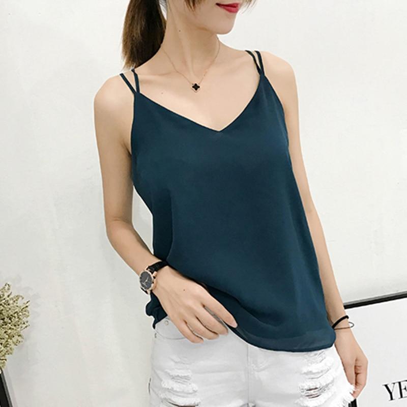 Korean Fashion Chiffon Women Camis Streetwear Sexy Tops Lace Sleeveless Black Female Tank Tops Plus Size XXXL/4XL Pink Shirt
