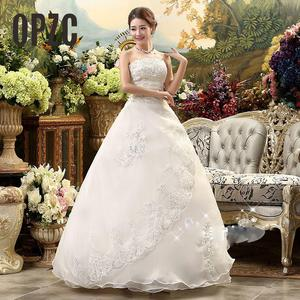 Image 2 - Cheap Real Photo Customized Princess Lace with Train China 2020 Vintage Plus Size Wedding Dresses Bridal Gowns vestido de noiva